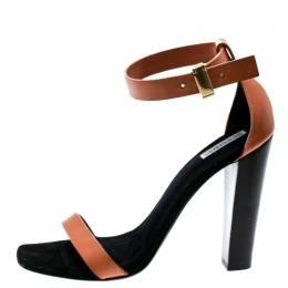 Celine Beige Leather Ankle Strap Sandals Size 38 179525