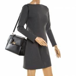 Balenciaga Black Leather Le Dix Shoulder Bag 179939