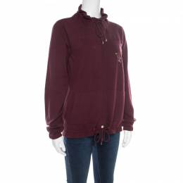 Chanel Burgundy Polo Centaur Embroidered Zip Front Jacket M 178203