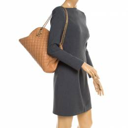 Chanel Brown Quilted Leather Large Just Mademoiselle Bowler Bag 181334