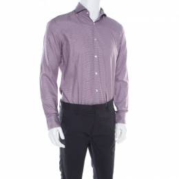 Boss by Hugo Boss Multicolor Houndstooth Printed Cotton Dwayne Slim Fit Shirt M 181721