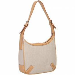Burberry Two Tone Canvas and Leather Shoulder Bag
