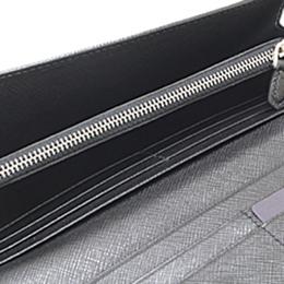 Prada Black Tessuto Nylon Continental Wallet 181921