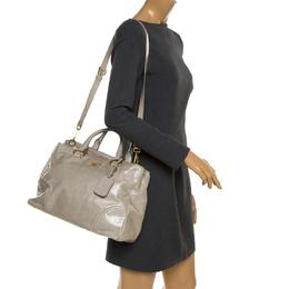 Prada Pale Green Glazed Leather Top Handle Bag 184246