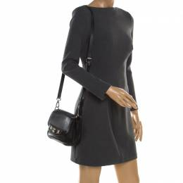 Tod's Black Leather Whipstitched Mask Crossbody Bag Tod's 185913