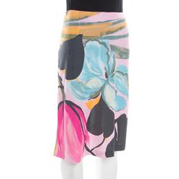 Etro Pink Floral Printed Nylon Skirt M 184791