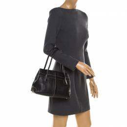 Tod's Black Leather Small D Bag Media Tote 185303