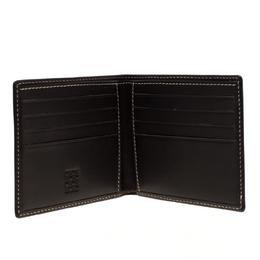 Carolina Herrera Black Monogram Leather Bifold Wallet 186171