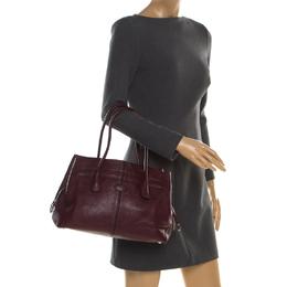 Tod's Burgundy Leather D Bag Media Tote 186325