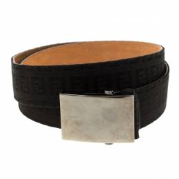Fendi Black Zucchino Canvas Belt Size 95cm 186374