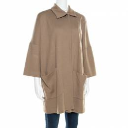 Jil Sander Beige Wool Box Sleeve Oversized Jacket S 185762