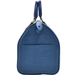 Louis Vuitton Toledo Blue Epi Leather Speedy 30 Bag 281113