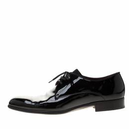 Dolce&Gabbana Black Patent Leather Derby Oxford Shoes Size 43 186730