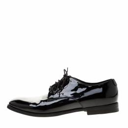 Gucci Black Patent Leather Lace Up Derby Size 41.5 186683