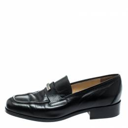 Dolce&Gabbana Black Leather Vintage Loafers Size 37.5