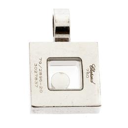 Chopard Happy Diamond 18k White Gold Square Pendant 193905