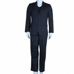 Ermenegildo Zegna Men's Grey Striped Suit M 45812