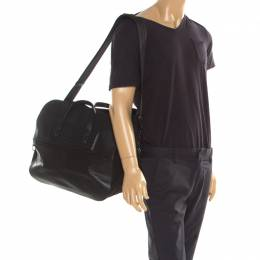 Bottega Veneta Black Nylon and Leather Duffle Bag 194886