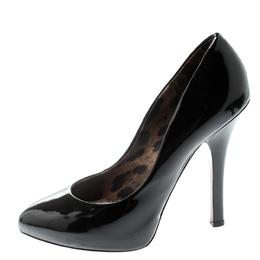 Dolce And Gabanna Black Patent Leather Platform Pumps Size 38 Dolce&Gabbana 195242