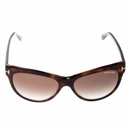 Tom Ford Havana/Brown Gradient TF430 Lily Cat Eye Sunglasses 276823