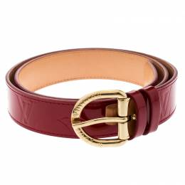 Louis Vuitton Red Monogram Vernis Belt 90CM 196614
