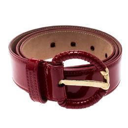 Dolce&Gabbana Red Patent Leather Belt 90CM 196865