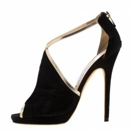 Jimmy Choo Black Suede Fey Back Zip Pumps Size 38.5 197356