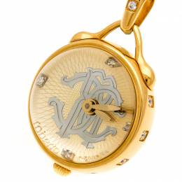 Roberto Cavalli Gold Plated Stainless Steel Miriam R7259148517 Pendant Watch 27 mm 197371
