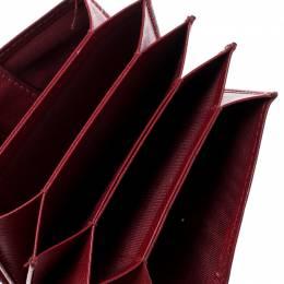 Salvatore Ferragamo Red Saffiano Leather Accordion Card Case 198350
