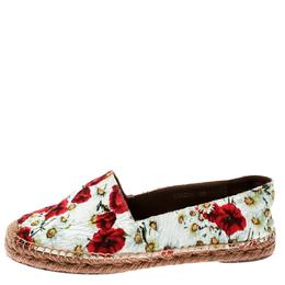 Dolce&Gabbana Multicolor Floral Print Canvas Espadrilles Size 38 181970