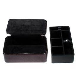 Dolce&Gabbana Burgundy Leather Jewelry and Sunglasses Organizer Box 167605