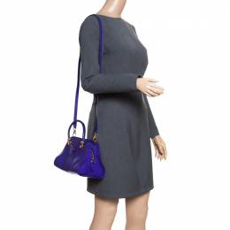 Tod's Blue Leather Small Sella Bowling Bag 154643