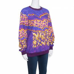 Peter Pilotto Ruc Purple Printed Sweatshirt L 152215