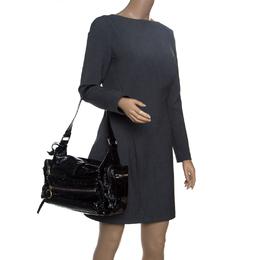 Chloe Black Patent Leather Ada Shoulder Bag