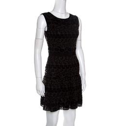 Giambattista Valli Black Floral Jacquard Knit Sleeveless Dress S