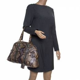 Saint Laurent Brown/Blue Python Large Muse Bag 150023