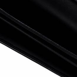 Gucci Black Leather Continental Wallet 145602