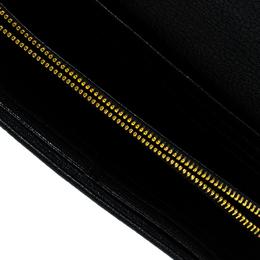 Miu Miu Black Leather Continental Wallet 143808