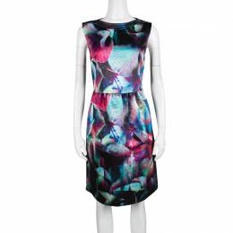 Emporio Armani Multicolor Digital Floral Print Sleeveless Dress M 139559
