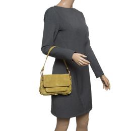 Saint Laurent Green Suede Shoulder Bag 142062