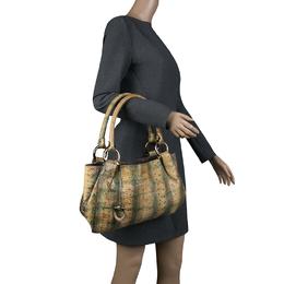 Salvatore Ferragamo Yellow Python Shoulder Bag 136995