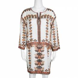 Isabel Marant Off White Printed Story Sandrine Dress S 137855
