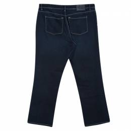 Armani Collezioni Indigo Dark Wash Faded Effect Denim Jeans L 105912