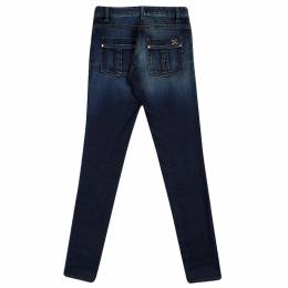 Roberto Cavalli Indigo Faded Effect Denim Jeans S 90467
