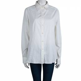 Etro White Paisley Pattern Jacquard Long Sleeve Button Front Shirt XL 80469