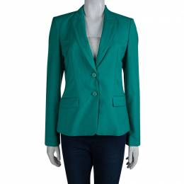 Boss by Hugo Boss Turquoise Wool Jaelle Blazer S 81918