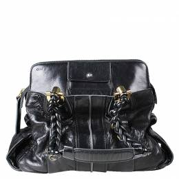 Chloe Black Patent Leather Shoulder Bag