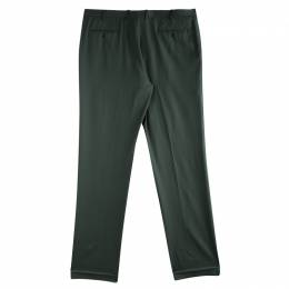 Brioni Olive Green Roman Style Wool Trousers 4XL 85410