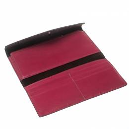 Cartier Pink Leather Les Must Envelope Trifold Wallet
