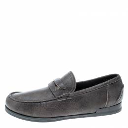 Dolce&Gabbana Brown Leather Genova Loafers Size 41.5 159855